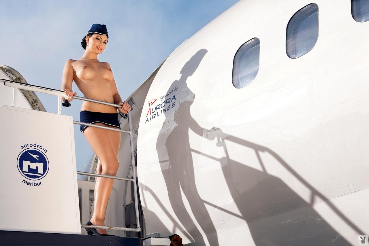Стюардесс эро фото сексуальных