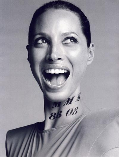 Октябрьский номер журнала Vogue Paris: Кристи Терлингтон (Christy Turlington)