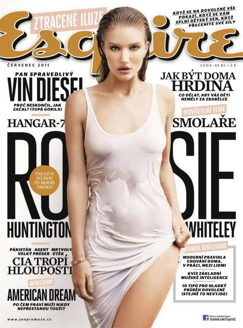 Голая звезда Рози Хантингтон Уитли (Rosie Huntington Whiteley) в Esquire Чехии