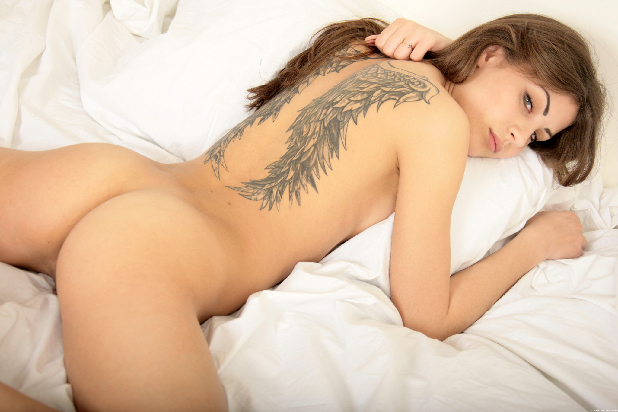 Nude angel tattoo porn images