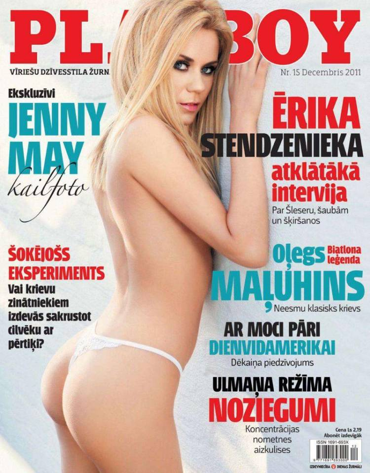 Голая Jenny May - Playboy December 2011  Latvia