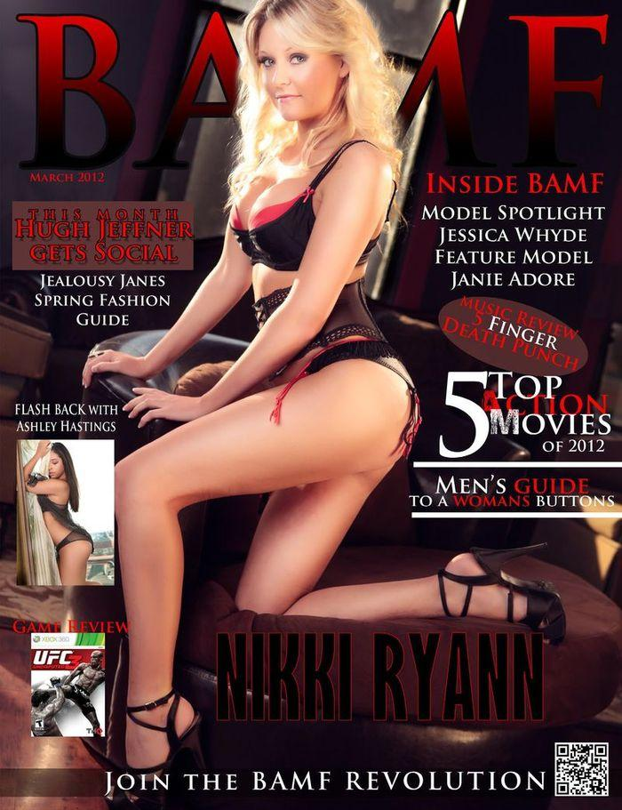 Голая звезда Nikki Ryann - Bamf March 2012  USA