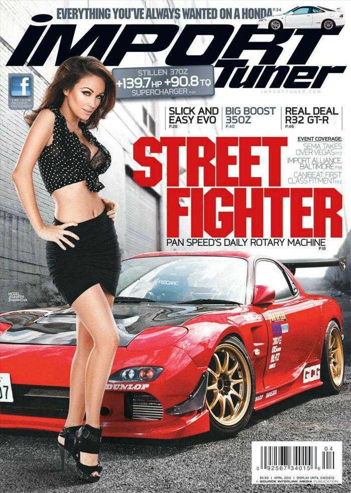 Голая звезда Jennifer Zharinova - Import Tuner April 2012  USA