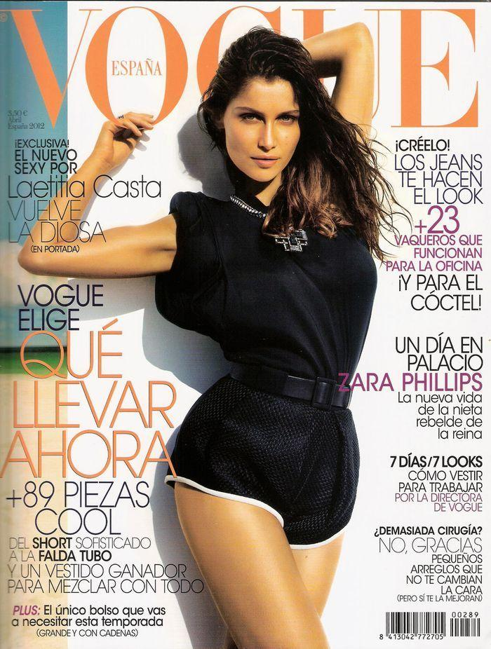 Секси Laetitia Casta - Vogue April 2012  Spain