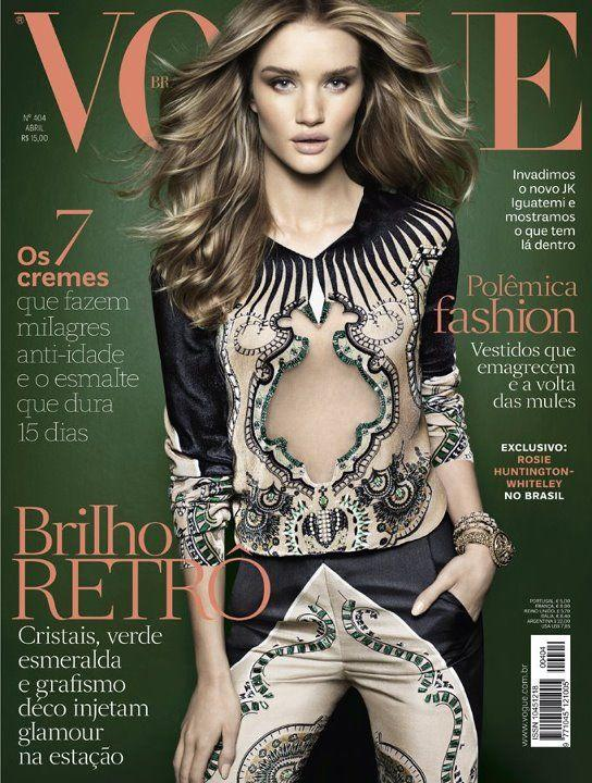 Сексуальная Rosie Huntington Whiteley - Vogue April 2012  Brazil