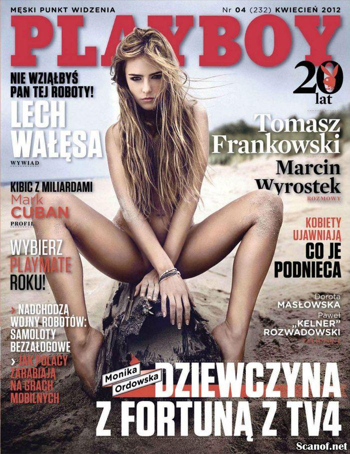 Голая звезда Monika Ordowska - Playboy April 2012  Poland