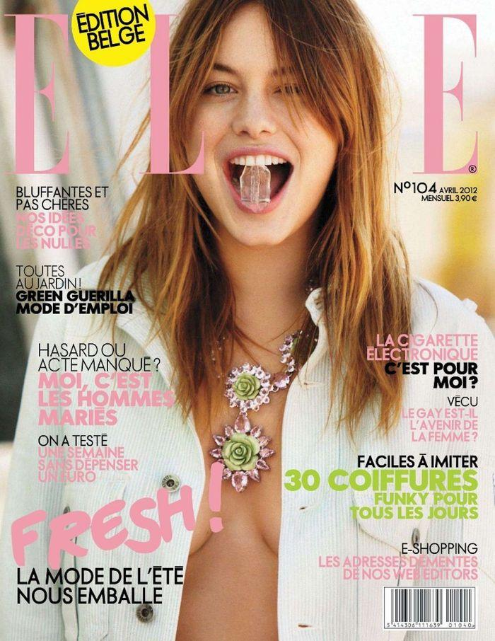 Откровенная Camille Rowe - Elle April 2012  Belgium