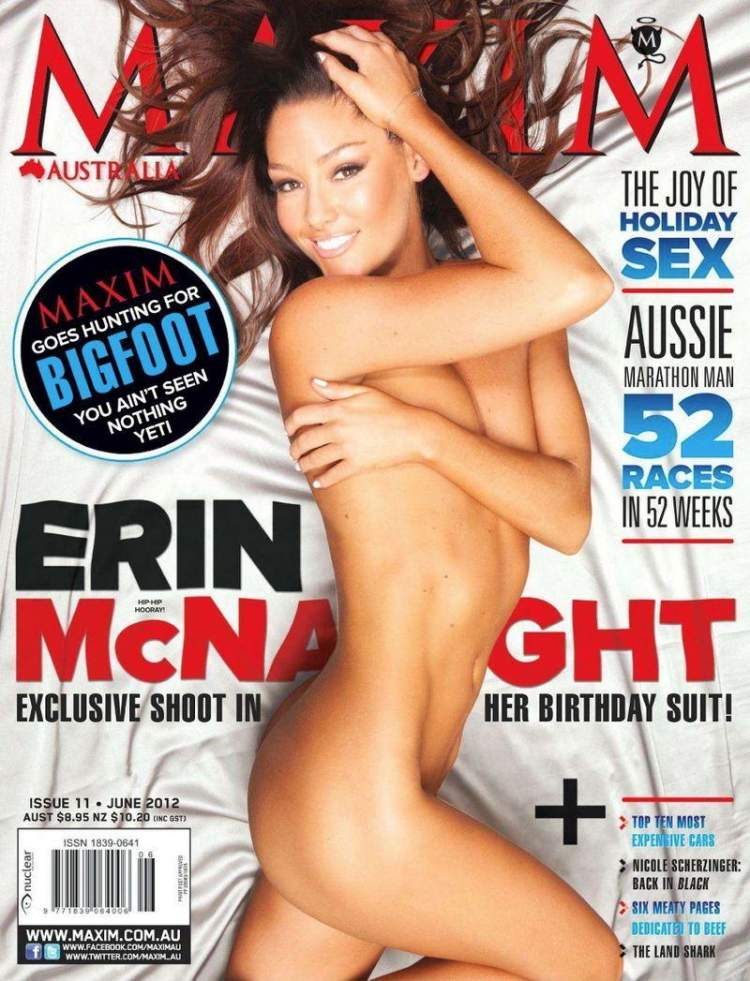 Откровенная Erin McNaught - Maxim June 2012  Australia