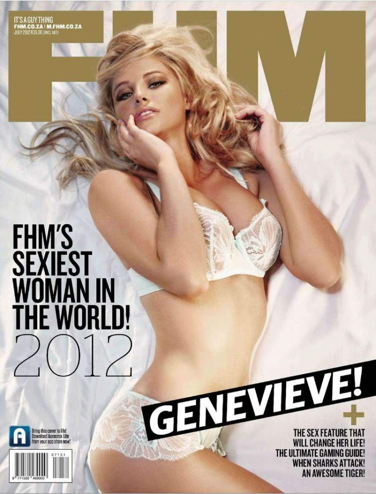 Раздетая Genevieve Morton - FHM July 2012  Africa