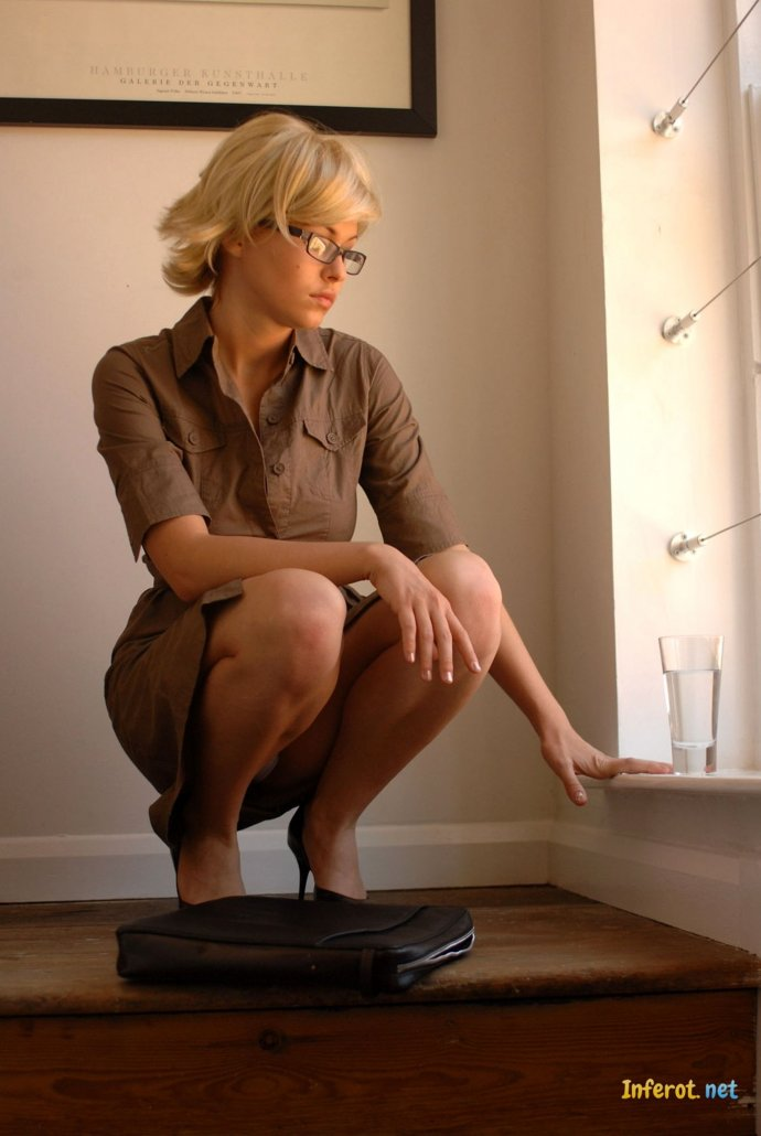Blonde emo topless selfie gallery