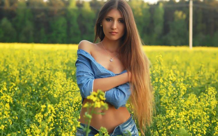 Nature, girl, long hair, lovely, beauty на рабочий стол