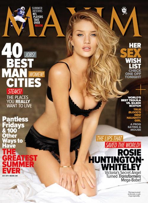 Секси Рози Хантингтон-Уайтли (Rosie Huntington-Whiteley) в Maxim USA