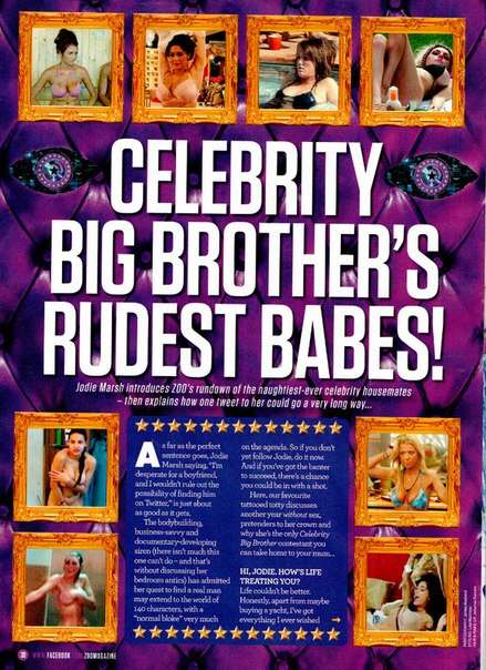 "Jodie Marsh - ""CBB's Rudest Ever Babes"" - ZOO Magazine"