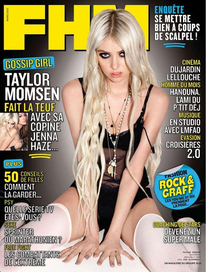 Обнаженная Taylor Momsen - FHM March 2012  France