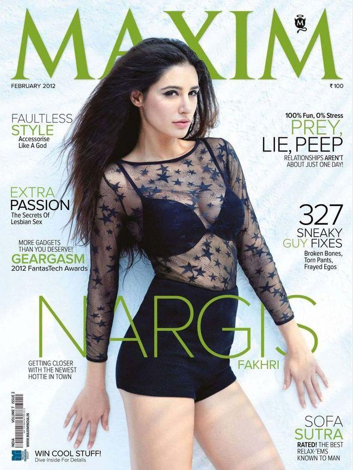 Голая Nargis Fakhri - Maxim February 2012  India