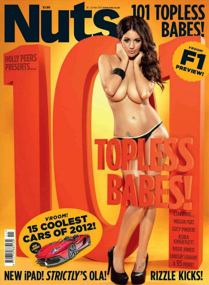 Обнаженная Holly Peers - Nuts March 2012  UK