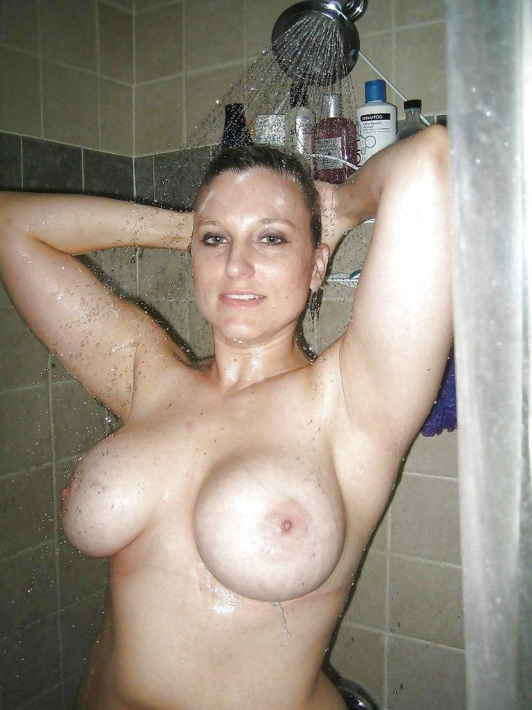 Nude mothers in shower