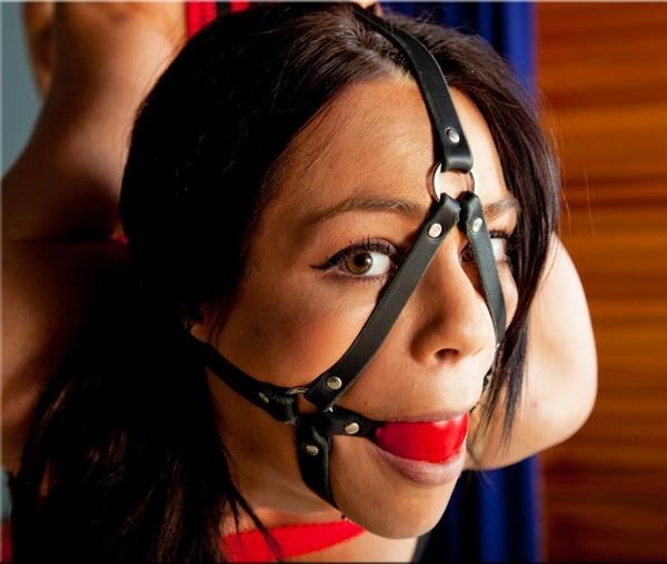 Brunette bondage gagged