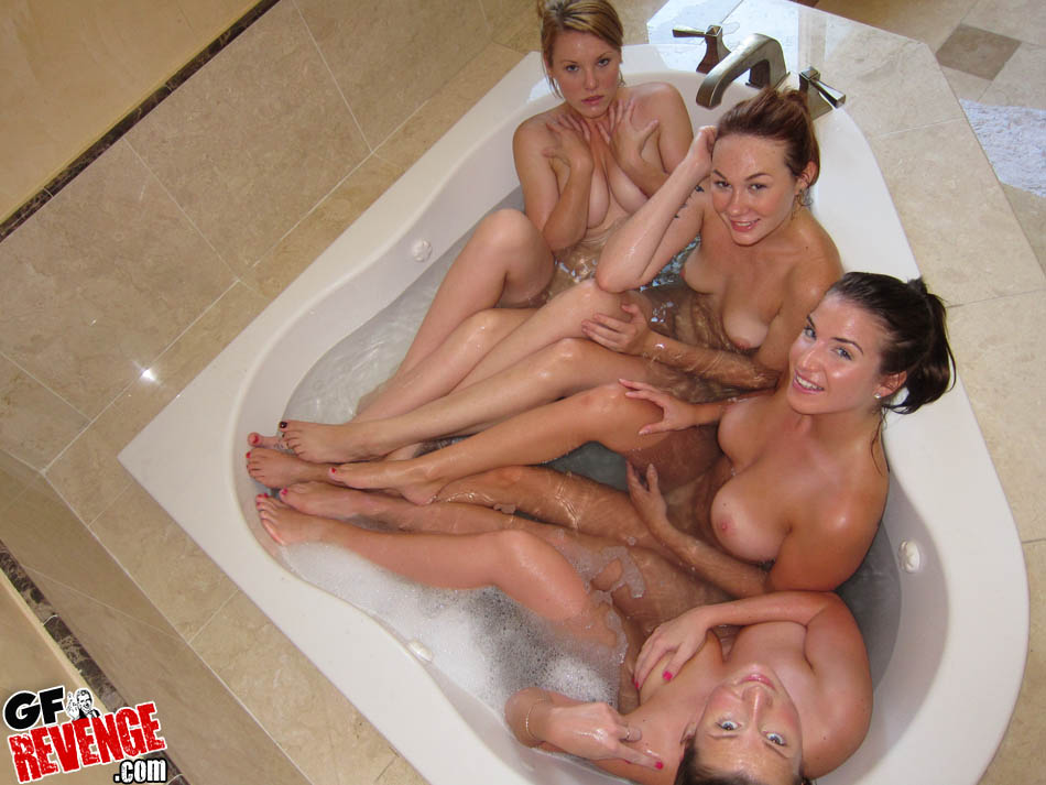 Amateur girl naked hot tub