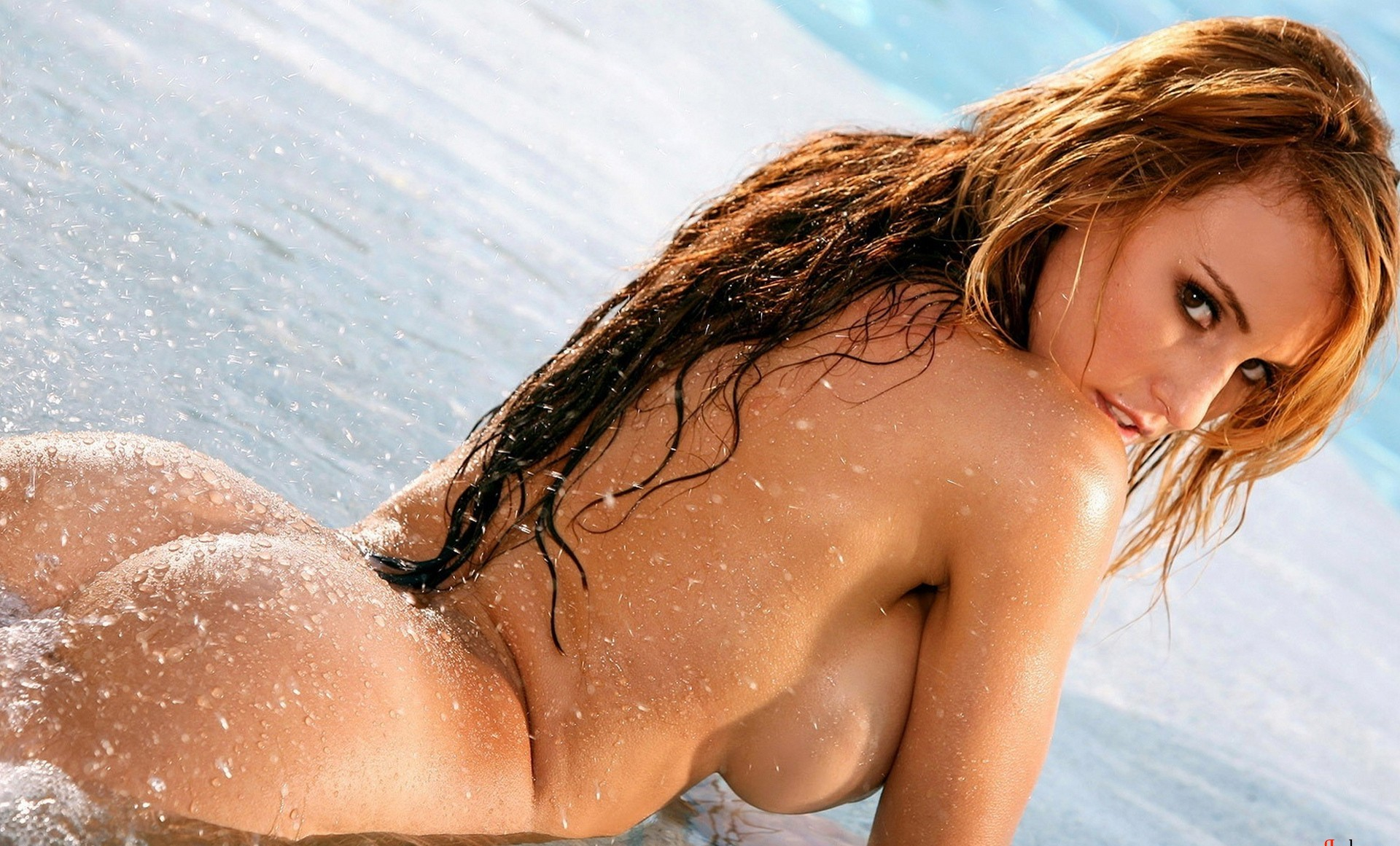 Girls naked getting wet #1